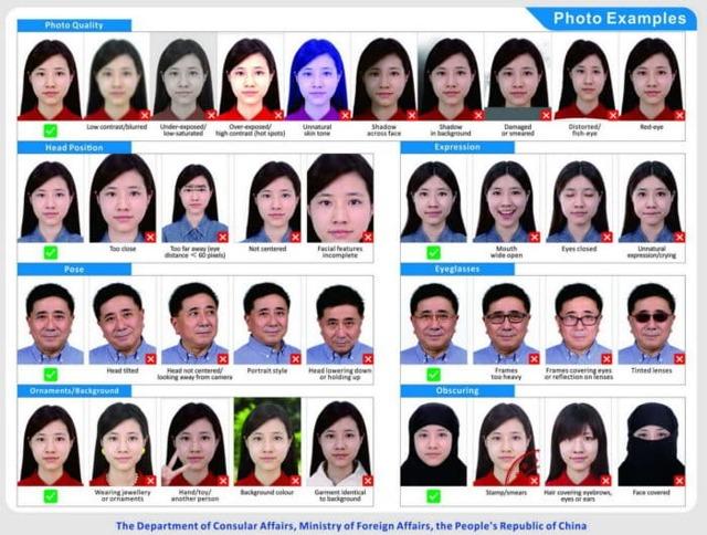 Фото на визу в Китай в 2020 году: требования, заполнение анкеты с образцами