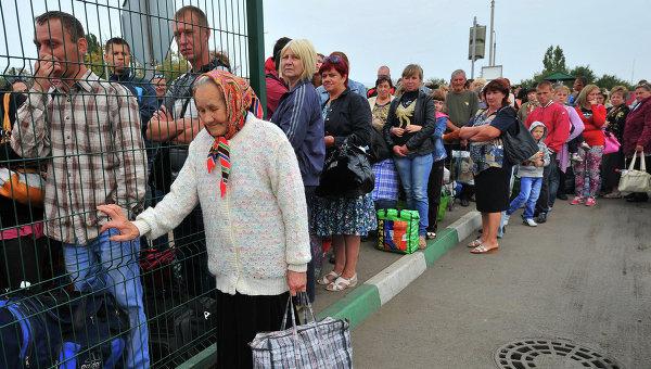 Помощь беженцам из Донбасса Украины в России