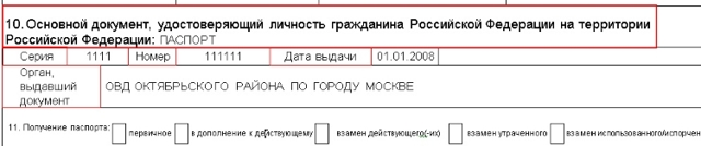 Образец заполнения анкеты на загранпаспорт нового образца: заявление
