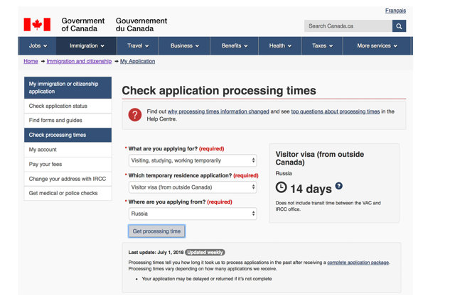 Образец заполнения анкеты для получения визы в Канаду в 2020 году