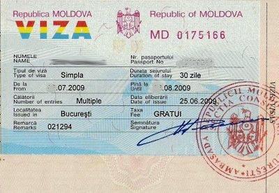 Виза в Молдавию для россиян: визовый режим с Россией