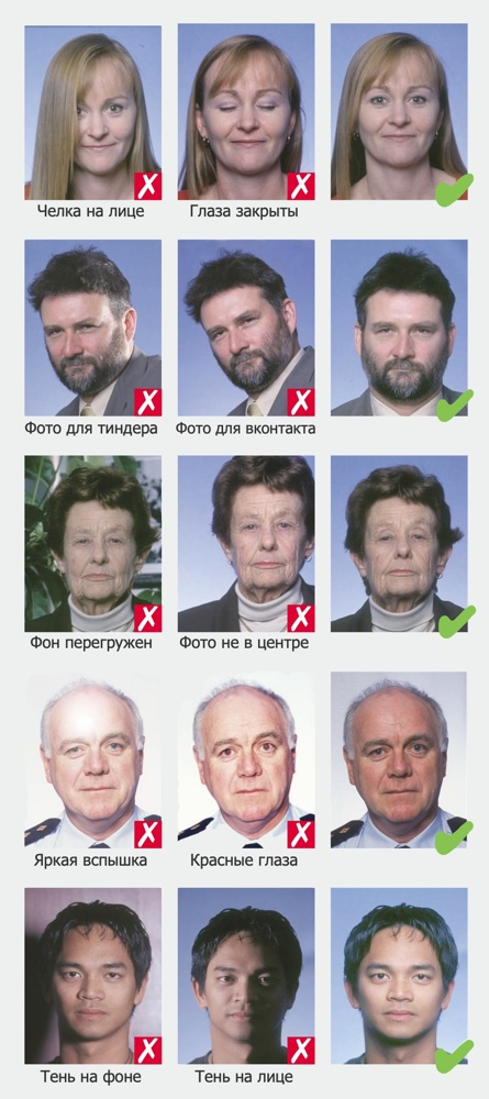 Фото на визу: размер и требования к фото на шенгенскую визу