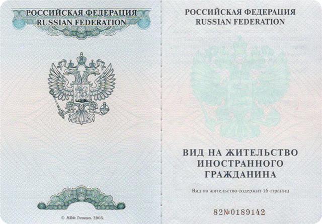 Документы на вид на жительство в РФ в 2020 году