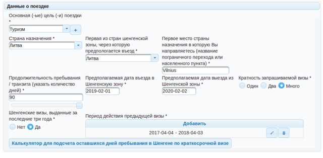 Как заполнить анкету на визу в Литву в 2020 году | Основные ошибки