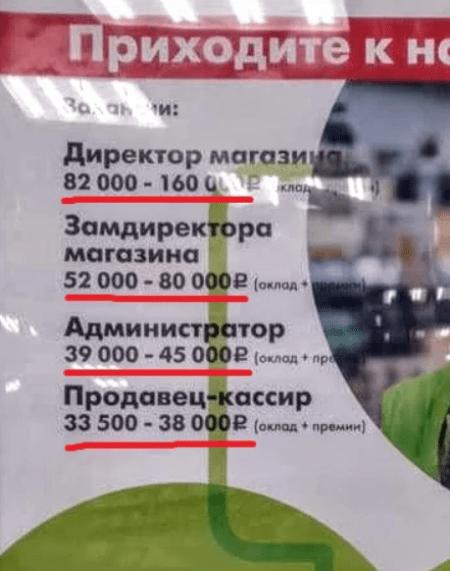 Размер зарплат в