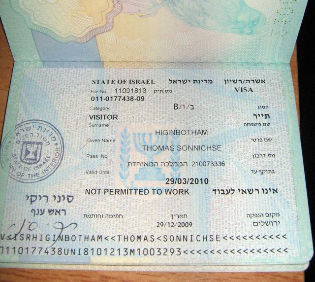 Нужна ли рабочая виза в Израиль для россиян?